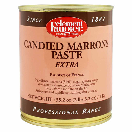 Clement Faugier Candied Marrons Chestnut Paste 35.2 oz. (1 kg)