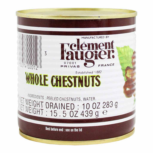 Clement Faugier Whole Chestnuts in Water 15.5 oz. (439g)