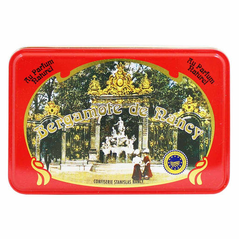 Confiserie Stanislas Bergamotes de Nancy Candies in Tin 5.2 oz. (150g)