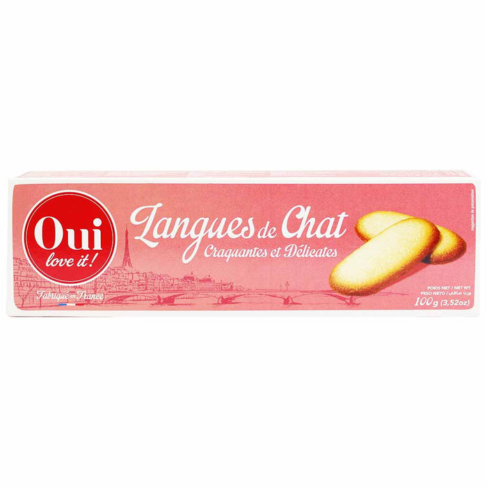 Oui Love It Cat Tongue Langues de Chat Cookies 3.5 oz. (100g)