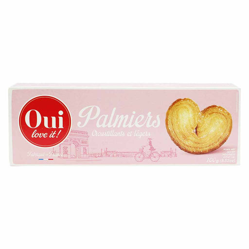 Oui Love It Palmiers French Puff Pastry 3.5 oz. (100g)