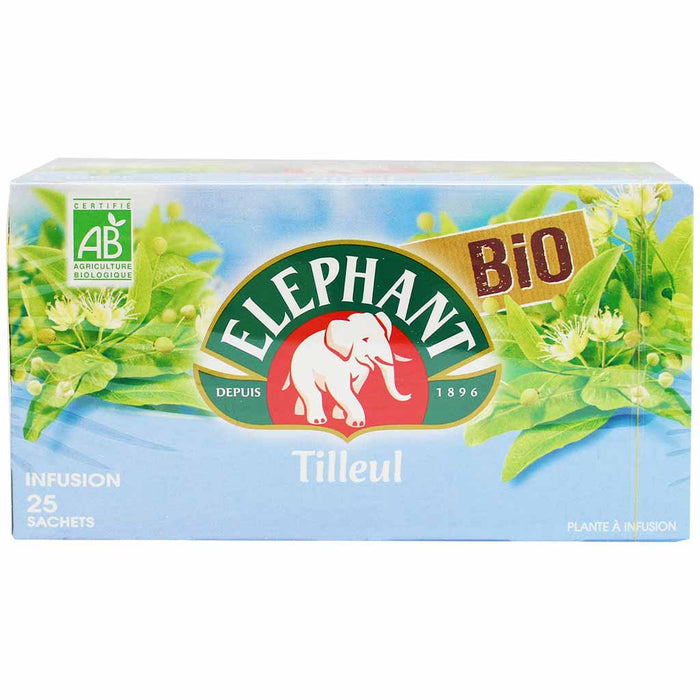 Elephant Infusion Tilleul Tisane Lime Blossom Herbal Tea 25 sachets 1.3 oz. (37g)