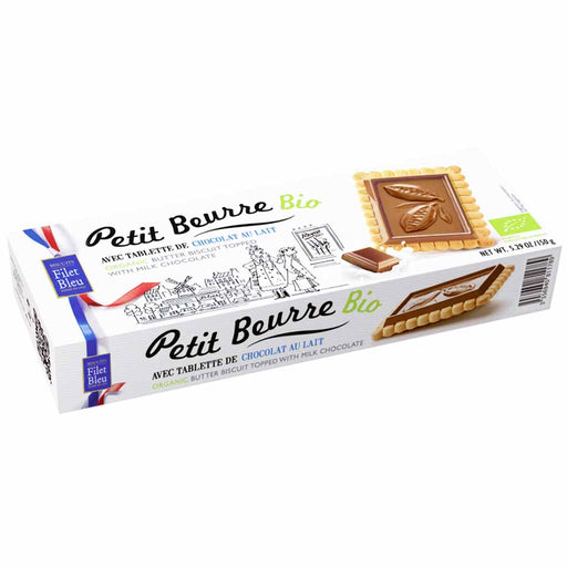 Filet Bleu - Organic Butter Biscuits with Milk Chocolate, 5.2 oz. (150g)