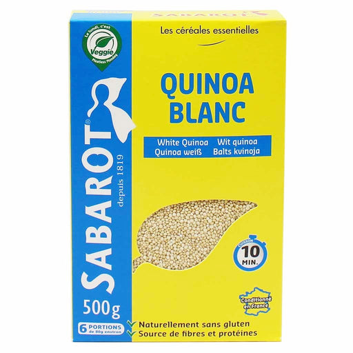 Sabarot White Quinoa from France 17.6 oz. (500g)