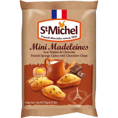 St. Michel Mini Chocolate Chip French Madeleines 6.1 oz. (175g)