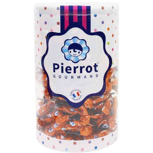 Pierrot Gourmand Bulk French Caramel Lollipops Tub 57.8 oz. (1.6 kg)