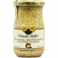 Fallot Large Jar Old Fashioned Seeded Dijon Mustard 13.4 oz. (380g)