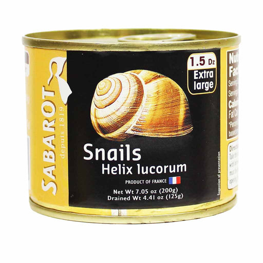 Sabarot French Escargot, 1.5 Dozen, 4.4 oz