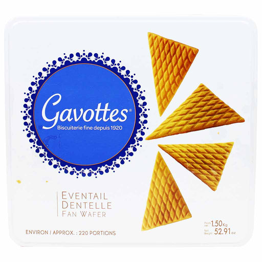 Gavottes Crispy Eventail Dentelle Fan Wafer 52.9 oz. (1.5kg)
