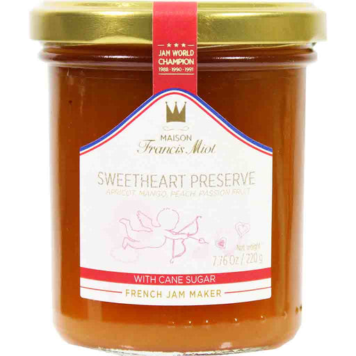 Francis Miot French Sweetheart Preserve Jam 7.7  oz. (220g)