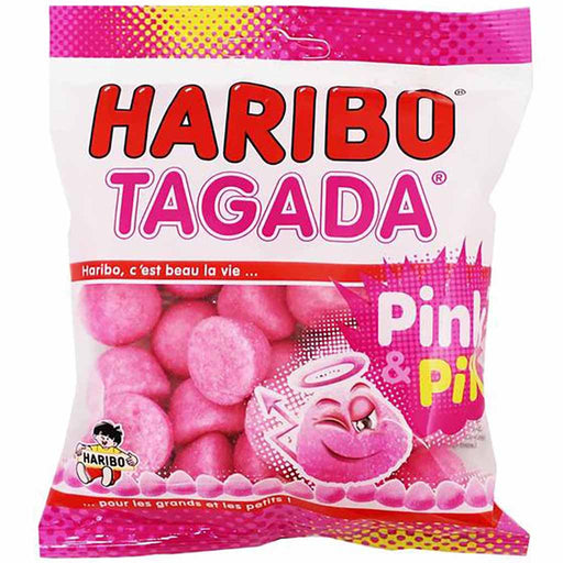 Tagada Pink Strawberry Candy, Large Bag, 8.8 oz. (250g)