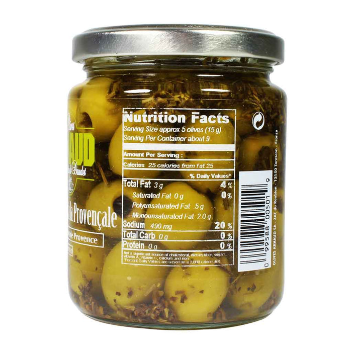 Arnaud - Green Olives with Provence Herbs, 9.2 oz