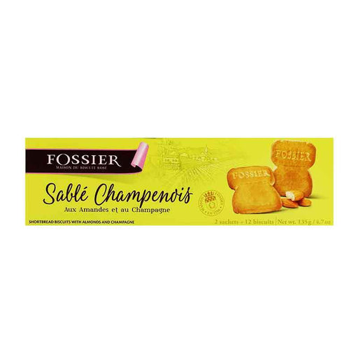 Fossier ‑ Champagne Cork Shortbread Biscuits, 4.7 oz.