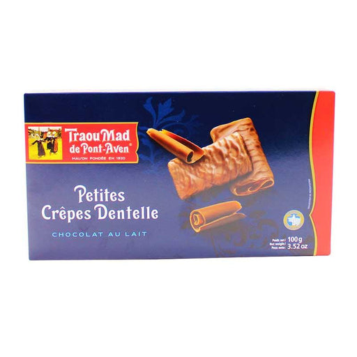 Traou Mad - Milk Chocolate Covered Crepe Dentelle Cookies, 3.5 oz.
