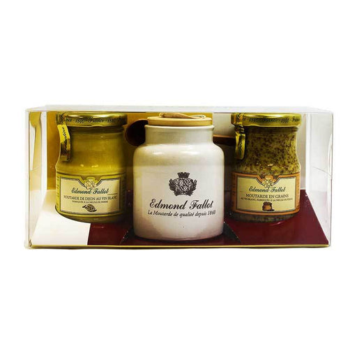 Edmond Fallot - Seed Style and White Wine Dijon Mustard Set, 7.4 oz.