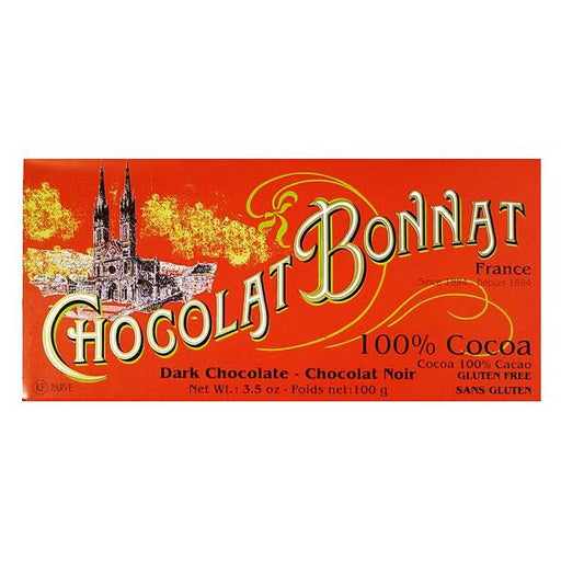 Chocolat Bonnat Dark Chocolate, 100% Cacao, 3.5 oz (100 g)