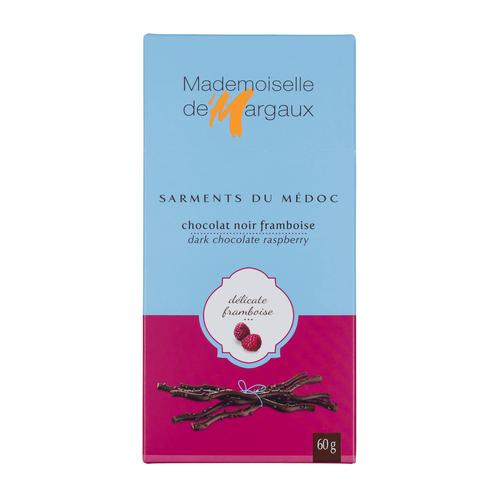 Mademoiselle de Margaux Dark Chocolate Raspberry Twigs, 2.1 oz (60 g)