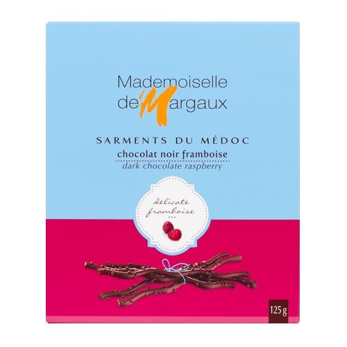 Mademoiselle de Margaux Dark Chocolate Raspberry Twigs, 4.4 oz (125 g)