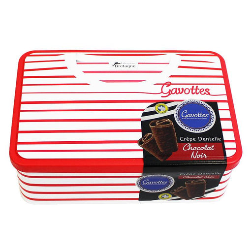Gavottes Dark Chocolate Crepe Dentelle Sailor Tin, 7.05 oz (200 g)