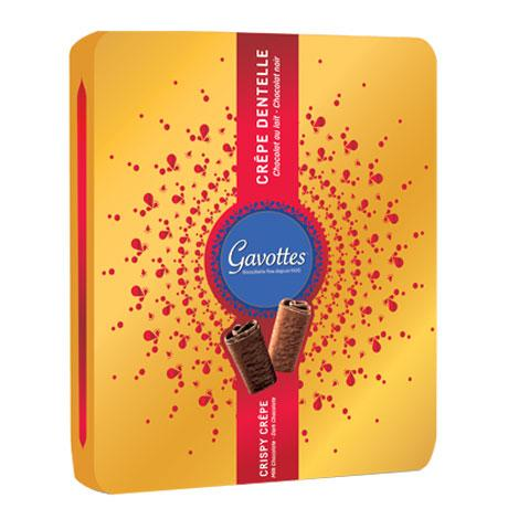 Gavottes Assorted Crepe Dentelle Gold Gift Tin, 15 oz (420 g)