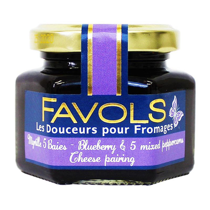 Favols Blueberry and 5 Mixed Peppercorn Cheese Pairing, 3.8 oz (110 g)