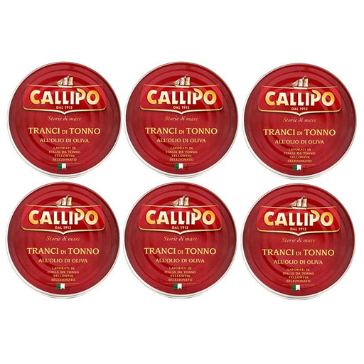 FREE Shipping 6-Can Large Callipo Yellowfin Tuna (5.6 oz x 6)