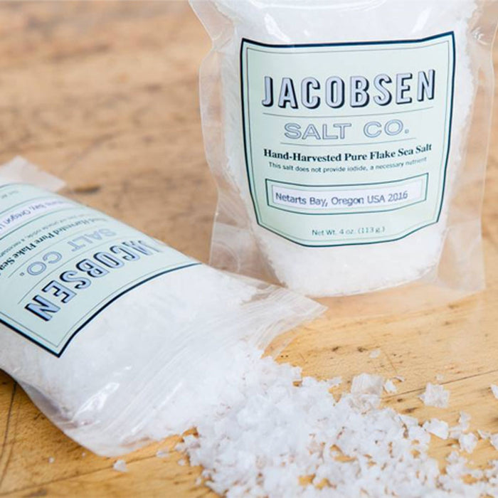 Jacobsen Salt Finishing Sea Salt Flakes, 4 oz Pouch