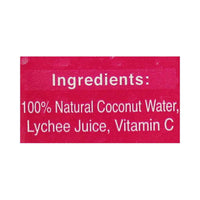 Foco 100% Pure Coconut Water with Lychee 16.9 fl. oz. (500mL)