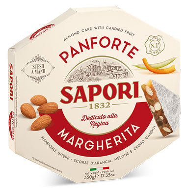 Sapori Margherita Almond and Candied Fruit Cake Panforte 12.3 oz