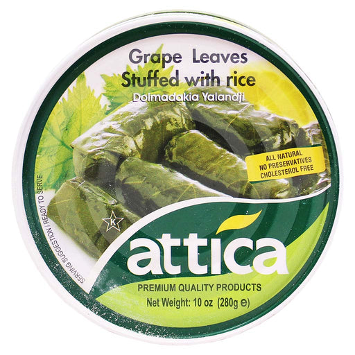 Attica Dolmadakia Yalandji Grape Leaves Stuffed with Rice 10 oz. (280g)
