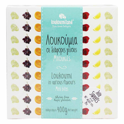 Loukoumiland Greek Delight Assorted Flavors 14.1 oz. (400g)