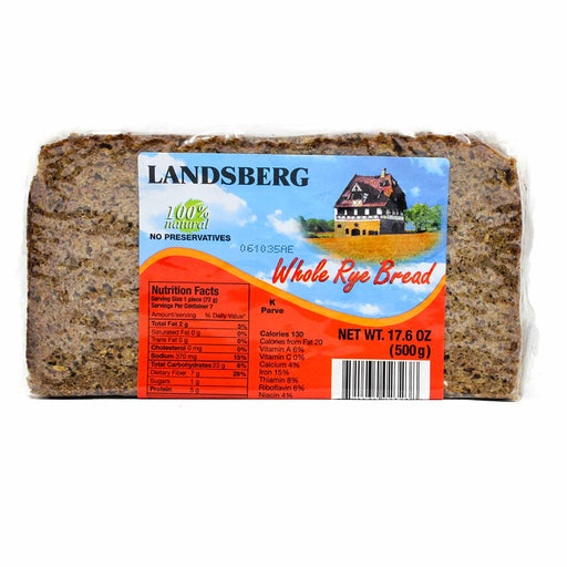 Landsberg Whole Rye Bread, 17.6 oz (500 g)