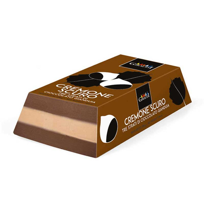 Giraudi Ultra Premium Handcraft Dark Gianduia Chocolate Cremino 7 oz. (200g)