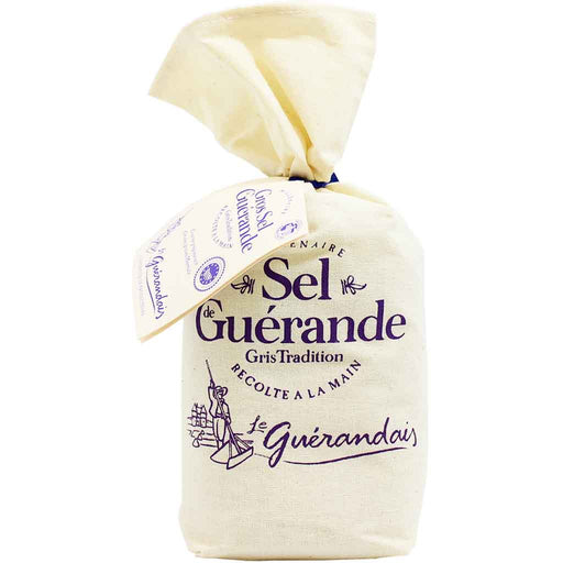French Salt Coarse 100% Unrefined Grey Sea Salt by Le Guerandais 26.4 oz. (750 g)