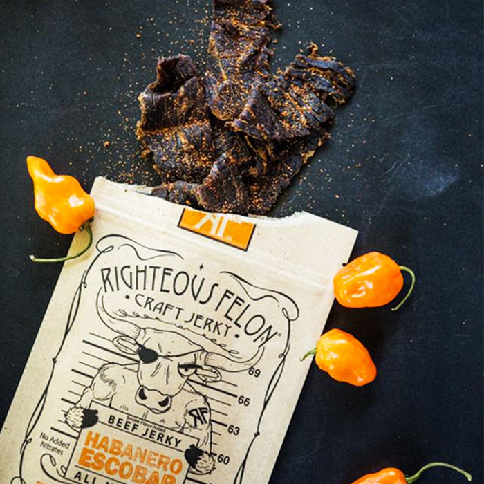 Habanero Escobar Beef Jerky by Righteous Felon 2 oz