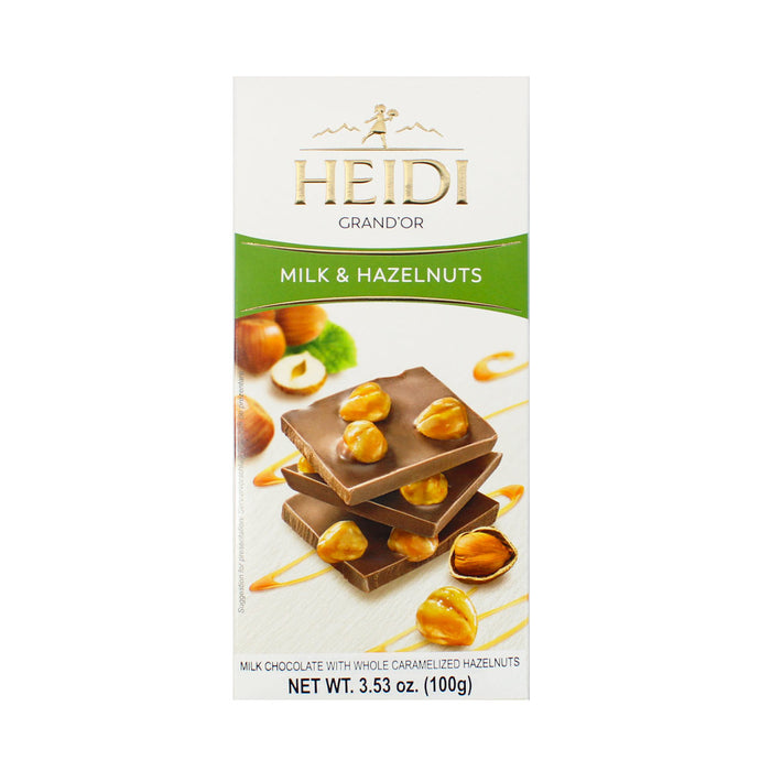 Heidi Grand'Or Milk Chocolate Caramelized Hazelnuts 3.5 oz. (100g)