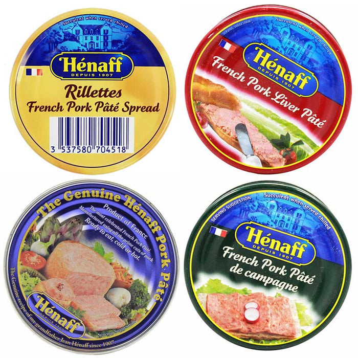 FREE Shipping | Henaff Authentic French Pork Pate and Rillettes Set