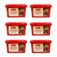 6-Pack Haechandle Gochujang Hot Chile Paste, Made in Korea (2.2 lbs x 6)