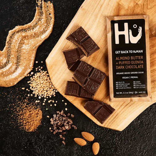 Hu Chocolate Almond Butter and Puffed Quinoa Dark Chocolate, 2.1 oz (60 g)