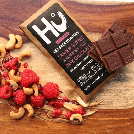 Hu Chocolate Cashew Butter and Raspberry Jelly Dark Chocolate, 2.1 oz (60 g)