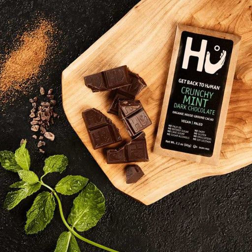 Hu Chocolate Crunchy Mint Dark Chocolate Bar, 2.1 oz (60 g)