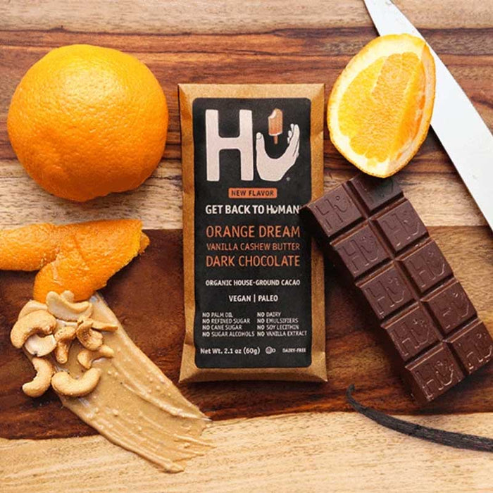 Hu Chocolate Orange Dream Vanilla Cashew Butter Dark Chocolate, 2.1 oz (60 g)
