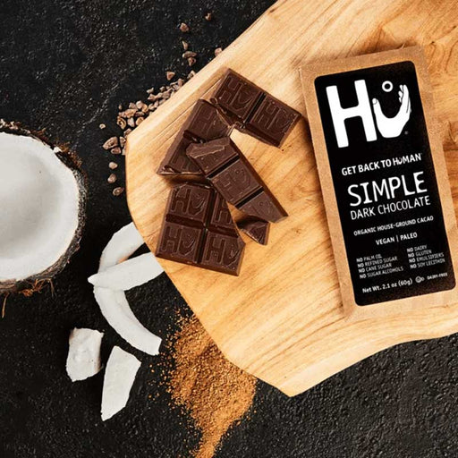 Hu Chocolate, Dark Bar, Organic & Simple, 2.1 oz (60 g)