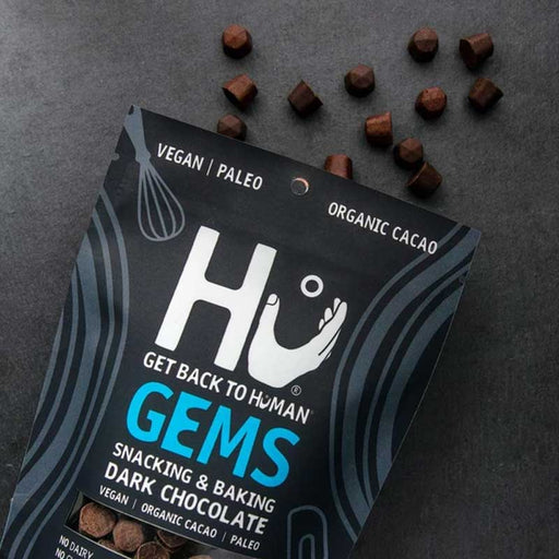 Hu Chocolate Gems, Dark,  Snacking and Baking, 9 oz (255 g)
