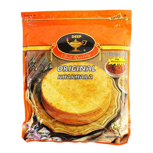 Deep Khakhra Indian Thin Cracker with Masala Spice, 7 oz (200g)