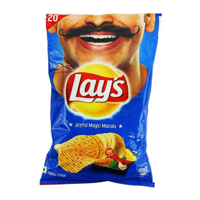 Lay's Magic Masala Potato Chips, Packed with Indian Spices, 1.83 oz (52g)