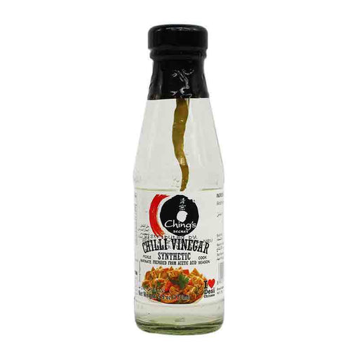 Ching's Secret Chili Vinegar with Whole Hot Chilli, 5.9 oz (170ml)
