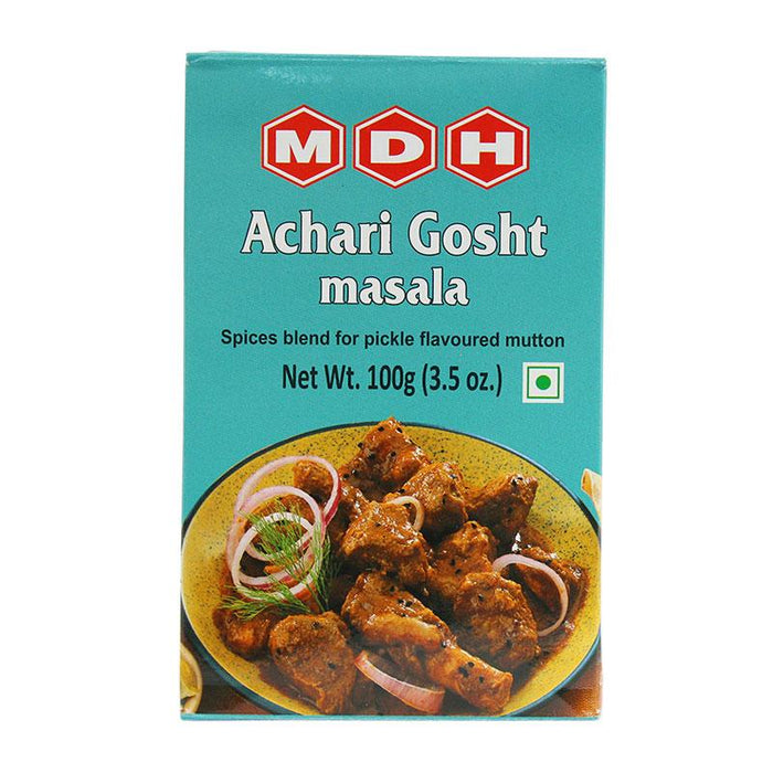 MDH Achari Gosht Masala Spice Mix for Indian Achari Dish, 3.5 oz (100g)