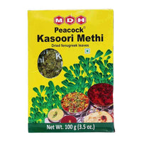 MDH Peacock Methi Fenugreek Leaves, Indian Cook's Secret Weapon, 3.5 oz (100g)