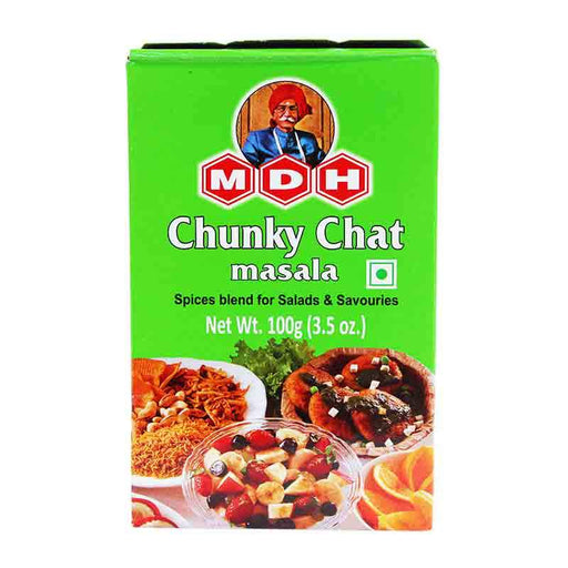 MDH Chunky Chat Masala Spice Blend for Salads, 3.5 oz (100g)